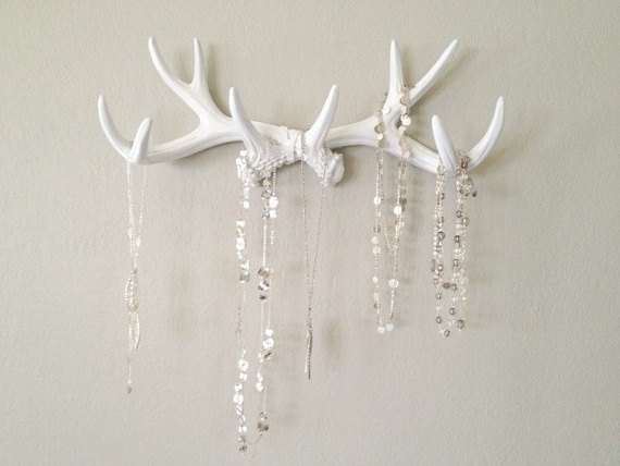 Faux deer antlers wall decor jewerly rack on luulla for Antler decoration